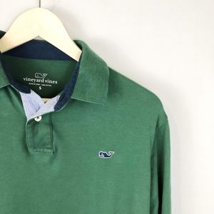 Vineyard Vines Embroidered Whale Long Sleeve Polo